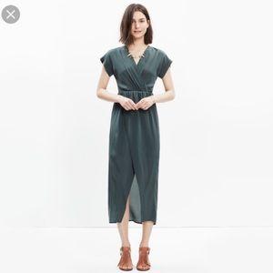 Madewell Silk Wrap Midi Dress